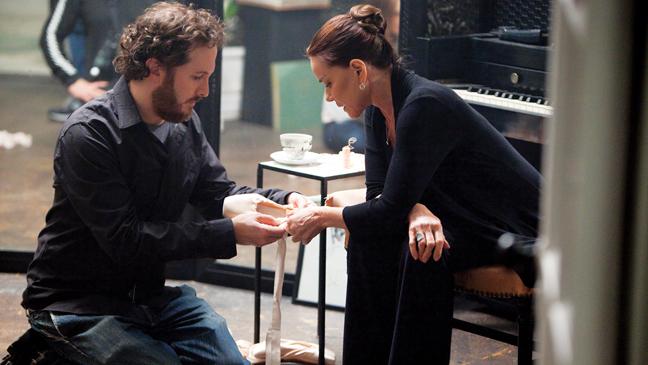 Darren Aronofsky and Barbara Hershey