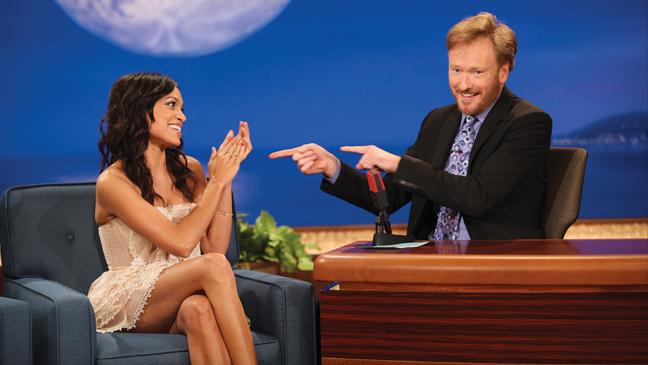 Issue 55 - Conan: Conan O'Brien and Rosario Dawson