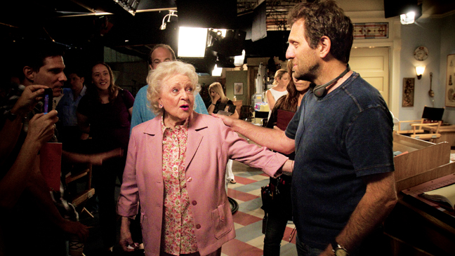 Issue 56 - Just How Busy Is Betty White: Betty on set of Hot in Cleveland