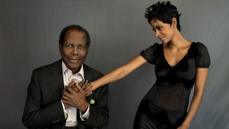 58 FEA Sidney Poitier and Halle Berry