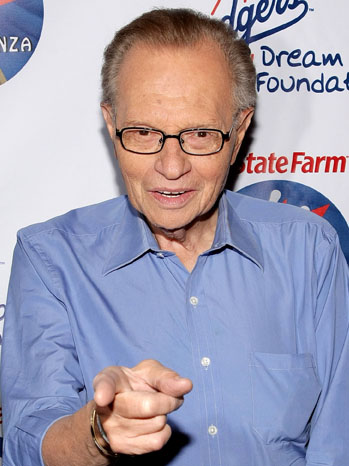 Larry King - step and repeat Dodgers Dream Foundation - 2009