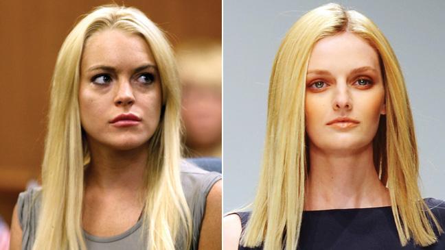 Lindsay Lohan and Lydia Hearst