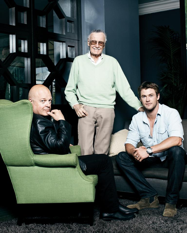 58 FEA Michael Chiklis, Stan Lee, Chris Hemsworth