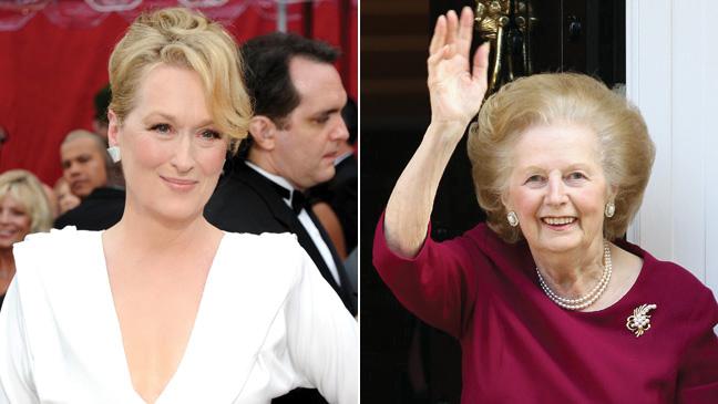 Meryl Streep and Margaret Thatcher