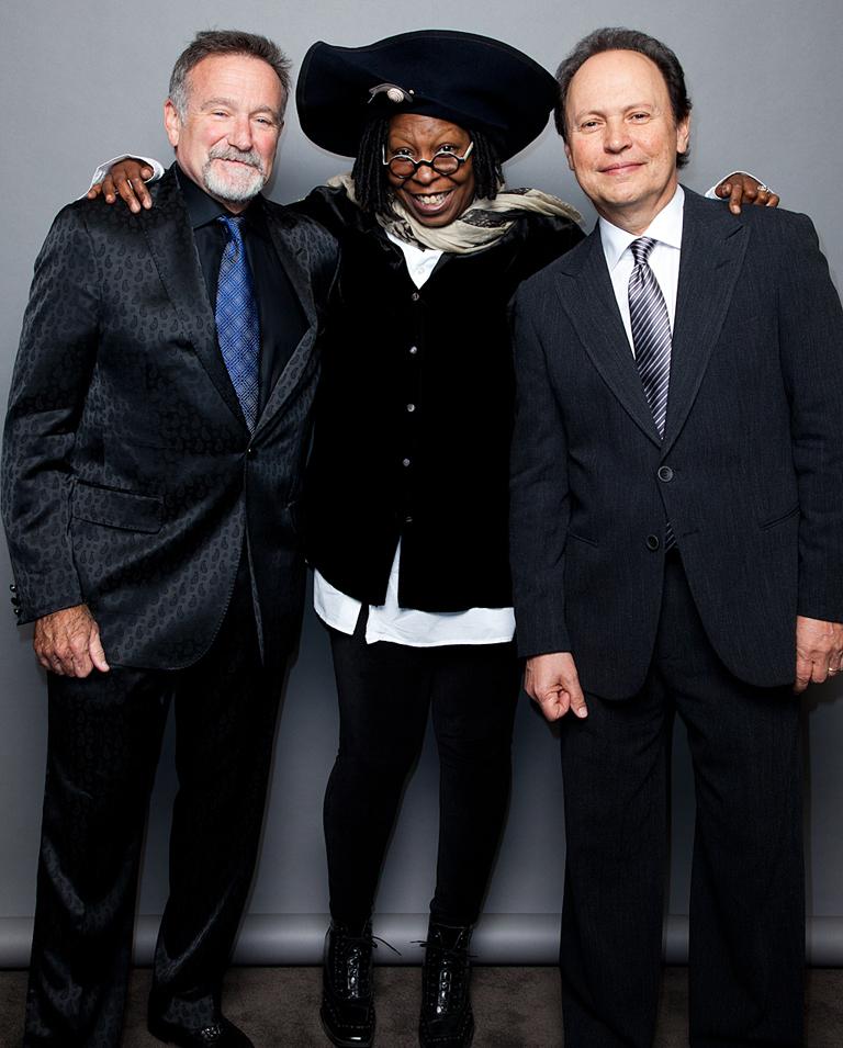58 FEA Robin Williams, Whoopi Goldberg, Bill Crystal