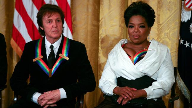 Paul McCartney and Oprah Winfrey