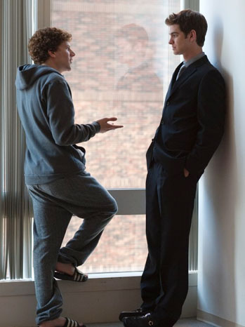 The Social Network - Movie Still - 2010 -  Jesse Eisenberg & Andrew Garfield