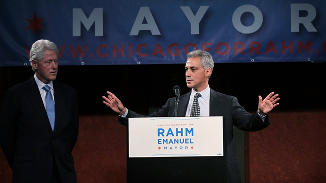 Rahm Emanuel - Bill Clinton Campaigns For Rahm Emmanuel In Chicago - 2011