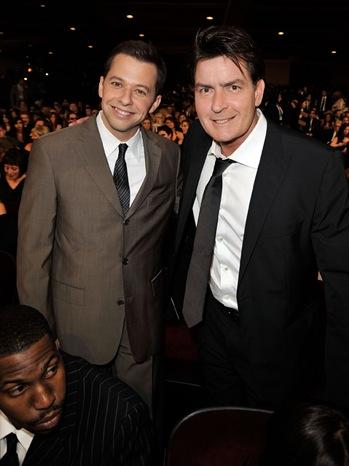 Jon Cryer & Charlie Sheen - People's Choice Awards - 2009