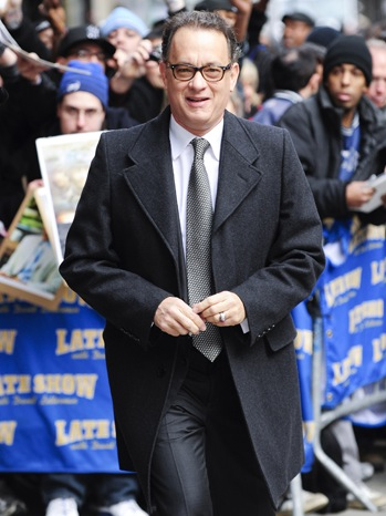 "Tom Hanks - Celebrity Arrivals At ""Late Show With David Letterman"" - 2010"