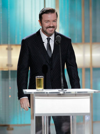 Ricky Gervais - 68th Golden Globes - Inside Image -1 - 2011