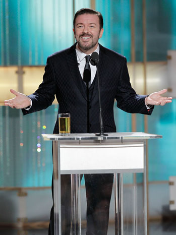 Ricky Gervais - 68th Golden Globes - Inside Image - 2011