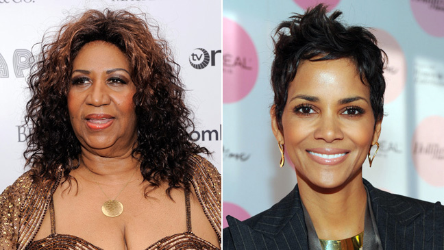 Aretha Franklin and Halle Berry