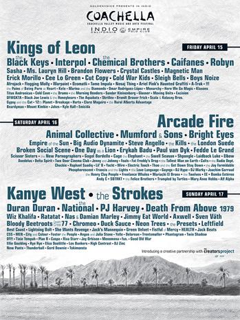 Coachella Flyer 2011