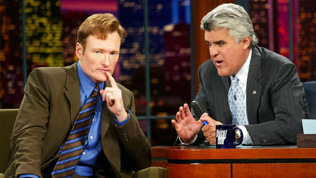 Conan O'Brien Appears on The Tonight Show with Jay Leno  - Episode Image - 2003
