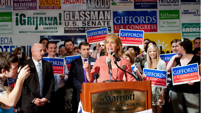Gabrielle Giffords - Election Night Party - 2010