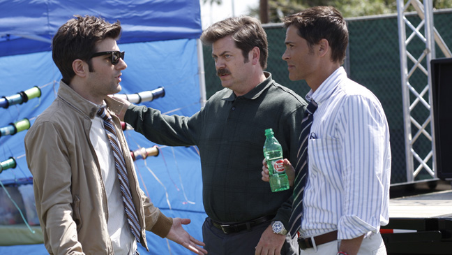 Parks and Recreation Adam Scott, Nick Offerman, Rob Lowe