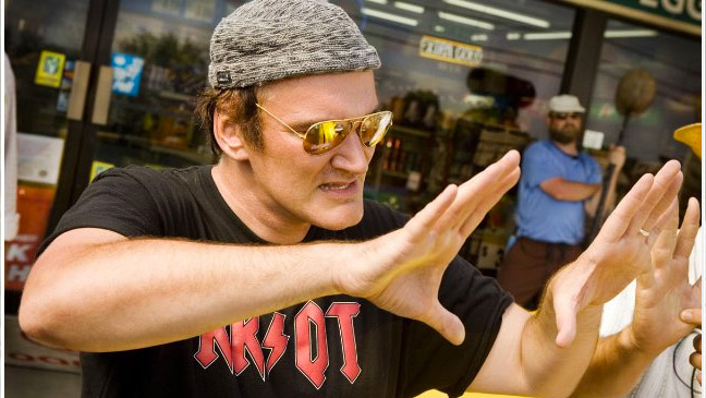 Quentin Tarantino - On Set - Grindhouse - 2007