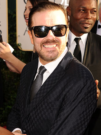 Ricky Gervais - 68th Golden Globes - arrival head shot - 2011