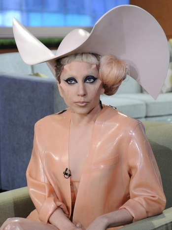 Lady Gaga - ABC Morning Show - Wears Condom Inspired Outfit - 2011