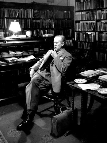 J.R.R Tolkien - Portrait - 1956