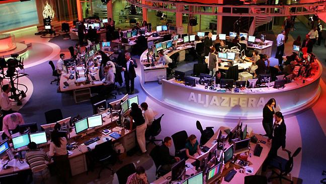 Al-Jazeera Newsroom 2011