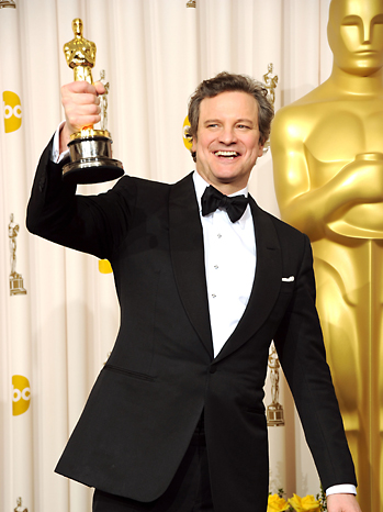 Colin Firth Oscars Press Room 2011