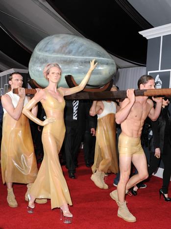 Lady Gaga Egg Grammy Awards 2011