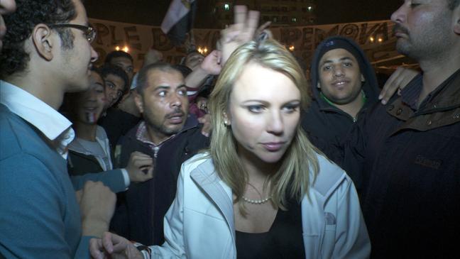 Lara Logan in Egypt for CBS News