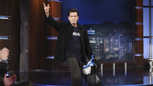 Charlie Sheen - Jimmy Kimmel Live - 2011