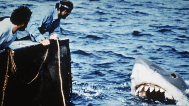 Richard Dreyfuss and Robert Shaw-Jaws Still-1975