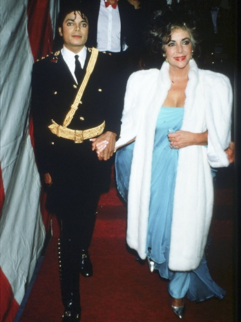 Elizabeth Taylor - With Michael Jackson at the American Music Awards -1986