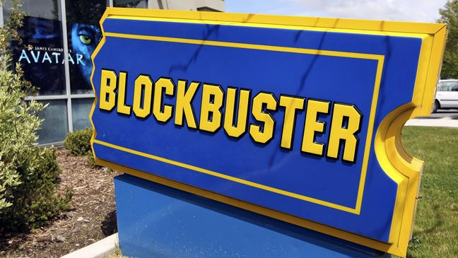Blockbuster Store - Sign outside -  2010