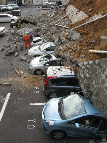 Japan Earthquake Tsunami Crushed Cars 2011