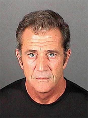 Mel Gibson Mugshot 2011