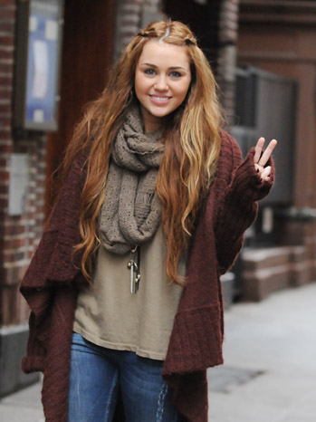 Miley Cyrus - Celebrity Sightings In New York City - 2011