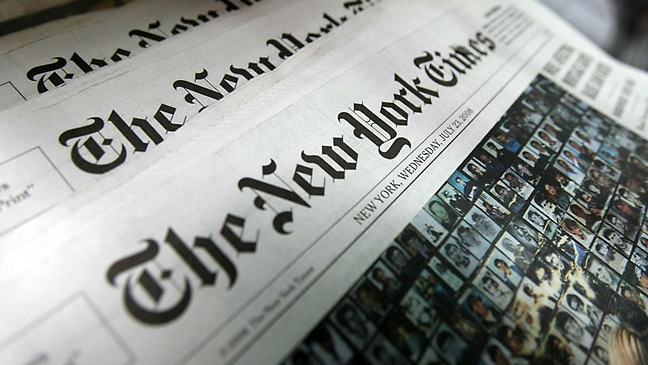 The New York Times Newspaper 2011