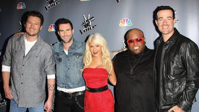 12 REP NEWS Blake Shelton, Adam Levine, Christina Aguilera, Cee-Lo Green and Carson Daly