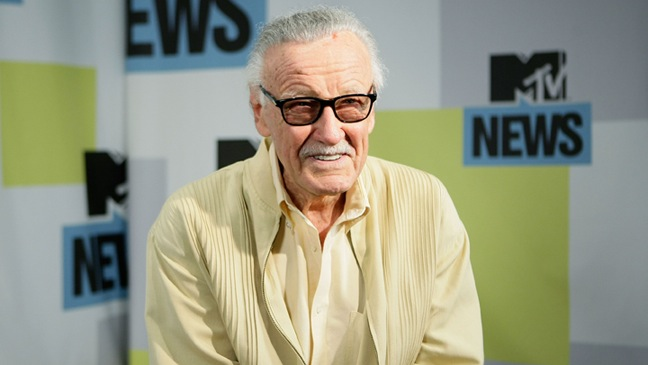 Stan Lee - MySpace And MTV Tower During Comic-Con - 2010