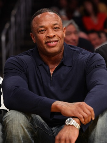 Dr. Dre - Celebrities At The Lakers Game - 2011