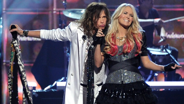 Country Music Awards - Steven Tyler; Carrie Underwood - 2011