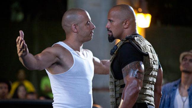 Fast Five - Film Still Vin Diesel Dwayne Johnson