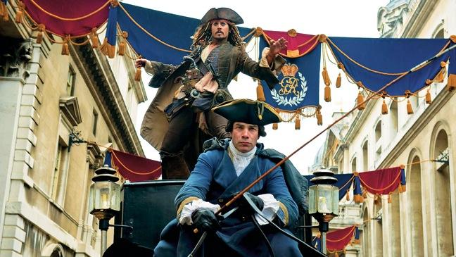 """Johnny Depp as Capt. Jack Sparrow in """"On Stranger Tides"""""""
