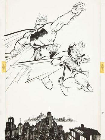 Frank Miller and Klaus Janson Batman: The Dark Knight #3 Batman and Robin Iconic Splash Page 10 Original Art (DC, 1986)