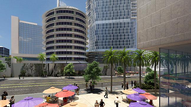 Capitol Records East Plaza 2011