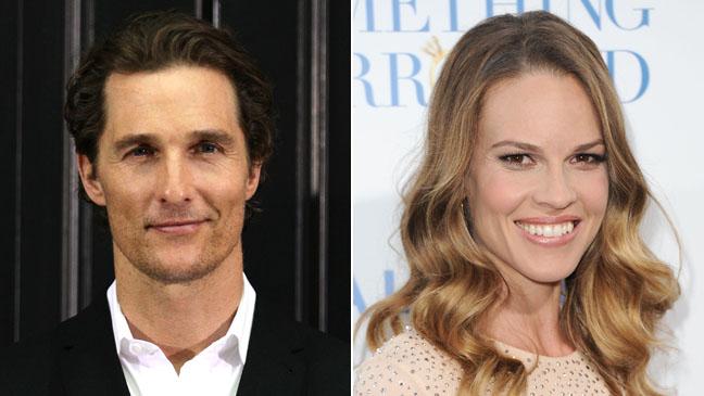 Matthew McConaughey Hilary Swank Split 2011