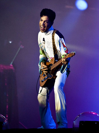 Prince Performs On Stage 2011