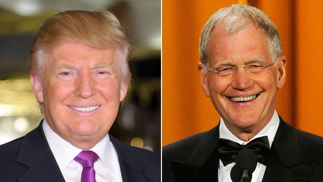 Donald Trump David Letterman Late Show Split 2011