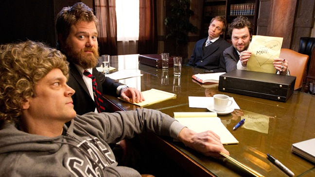 Ryan Dunn - w Johnny Knoxville, Dave England, Bam Margera - reenact scenes from 'The Social Network' - 2010