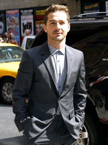 "Shia LaBeouf - Celebrities Visit ""Late Show With David Letterman"" - 2011"